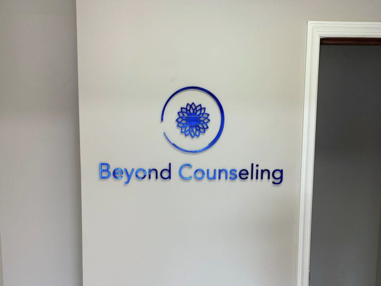 beyond counseling mirrored blue